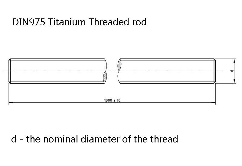 DIN975 Titanium Threaded rod