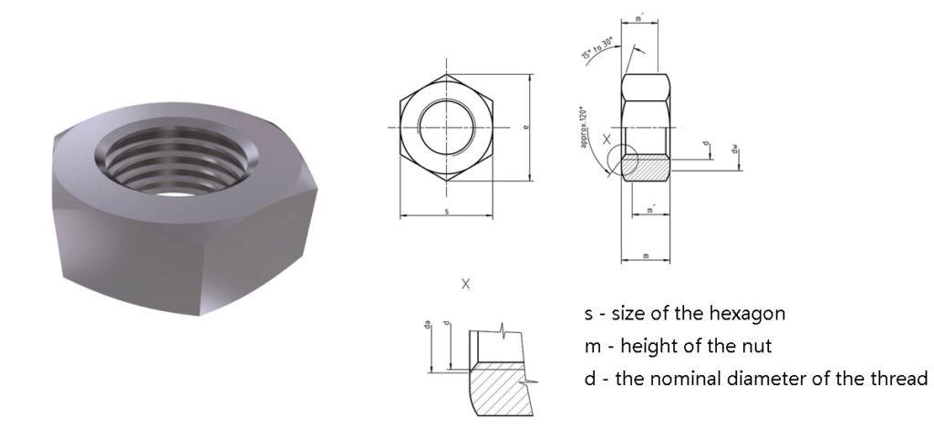 DIN934 Hexagon Nuts
