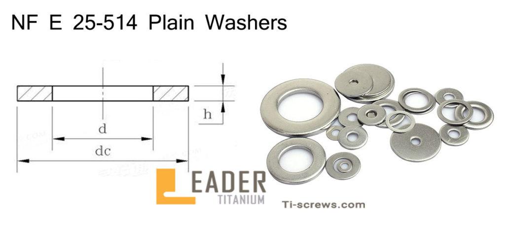 NF E 25-514 Plain Washers