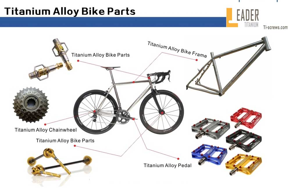 The application of titanium screw in bicycle