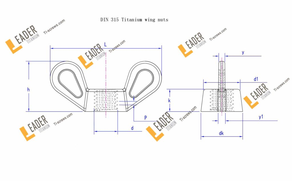 DIN 315 Titanium wing nuts